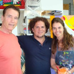 Arnold Schwarzenegger, Romero Britto & Maria Shriver