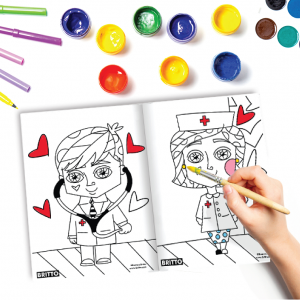 "Read FREE ""HEALTHCARE HEROES"" COLORING PAGE"